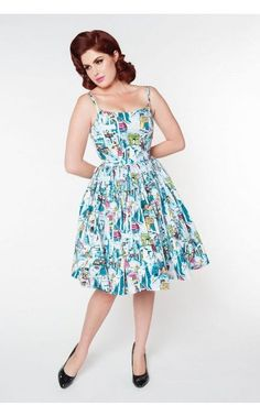 Paris Print Jenny Dress