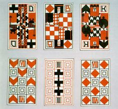 Weiner Werkstatte, rummy playing cards, Moser Ditha.
