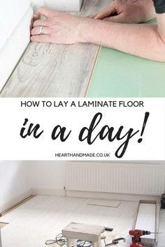 transform a room in one weekend and find out how to put a laminate floor down in a day! My craft room floor is white & a perfect home office http://www.hearthandmade.co.uk/how-to-put-laminate-wood-flooring-down/?utm_campaign=coschedule&utm_source=pinterest&utm_medium=Heart%20Handmade%20UK&utm_content=How%20To%20Put%20Laminate%20Wood%20Flooring%20Down%20In%20A%20Day%21