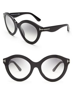 Tom Ford Chiara Round Oversized Sunglasses | Bloomingdale's