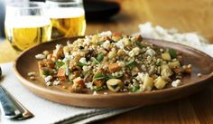 Sweet Potato & Barley Salad w Feta & Oregano Barley Nutrition, Yogurt Nutrition, Coffee Nutrition, Broccoli Nutrition, Barley Salad, Barley Soup, Barley Benefits, Roasted Squash, Feta Salad