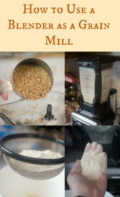 Sprouted grain in a blender or food processer
