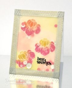 Best Wishes Flower card by Danielle Pandeline   Fanciful Florals Bold Flower Stamp set by Newton's Nook Designs