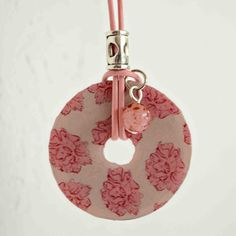 Washer+Necklace+with+Pink+Leather+Cording+by+sweettalkshop+on+Etsy,+$10.00