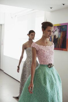 Karlie Kloss photographed during a fitting for Oscar De La Renta Spring 2013