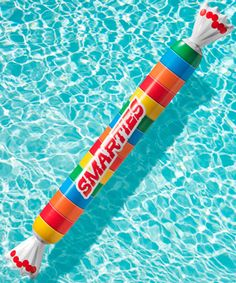 Smarties Pool Float: Inflatable styled after classic candy.
