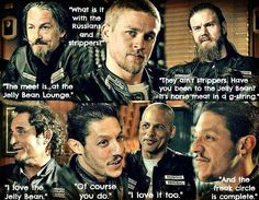 Freak Circle // Chibs // Jax // Opie // Tig // Juice // Happy // Sons Of Anarchy