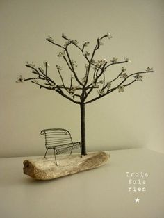 wonderful wire tree and bench