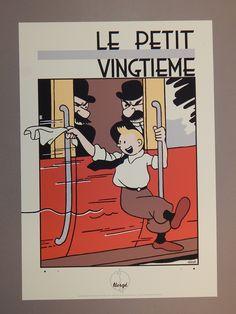 Hergé. Zeefdruk. Kuifje en de Jansens. Archives International. 1993 - W.B.