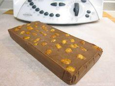 Turrón de chocolate con cacahuetes garrapiñados Thermomix