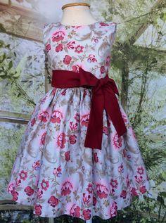 Vestido de fiesta floral para niños - Vino  #de #Fiesta #floral