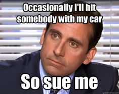 The Office (Michael Scott) Funny Shit, Haha Funny, Funny Memes, Hilarious, Funny Stuff, Funny Things, Funny Quotes, Random Stuff, Office Quotes