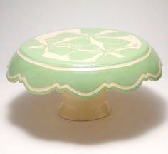 The perfect #cakestand to hold small cakes, cupcakes, or any other little sweets for your #tropical island #wedding!  Small Cake Stand with Spring Green Hand Carved Hibiscus Flowers by Pottery By Grace  http://etsy.com/listing/96149373/small-cake-stand-with-spring-green-hand  Photo Credit:  PotteryByGrace.etsy.com