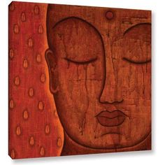 Gloria Rothrock Awakened Mind Gallery-Wrapped Canvas, Size: 36 x 36, Brown