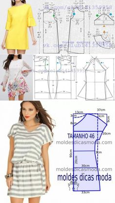 Outstanding 20 Sewing tutorials projects are offered on our internet site. Read more and you wont be sorry you did. Dress Sewing Patterns, Sewing Patterns Free, Clothing Patterns, Fabric Sewing, Skirt Patterns, Loom Patterns, Blouse Patterns, Make Your Own Clothes, Diy Clothes