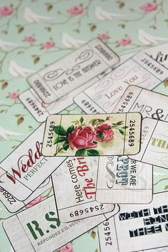 Free Printable vintage look wedding tickets from Miss Cutie Pie for Your DIY Wedding
