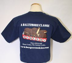 Navy Blue Berger Cookies T-Shirt, www.bergercookies.com