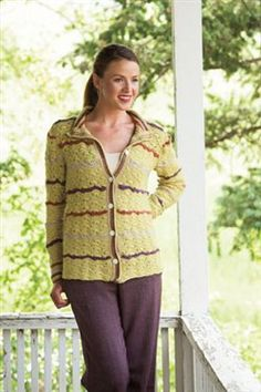 Crochet shells and stripes, what more could you want. Wavy Lines Cardigan - Media - Crochet Me