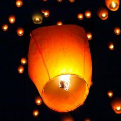 Amazon.com: (50) White Paper Chinese Lanterns Sky Fly Candle Lamp for Wish Party Wedding: Home Improvement