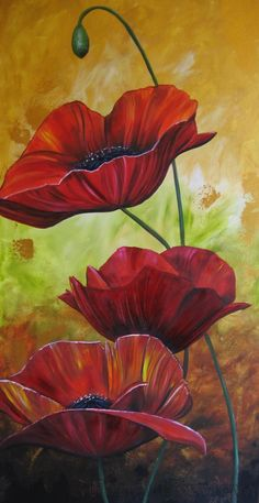 For Country, For Home by Ideasaregems-Dawn Folk Art Flowers, Poppy Art, Abstract Art Painting, Flower Painting, Art Painting, Flower Art Painting, Flower Art Drawing, Poppy Painting, Amazing Art Painting