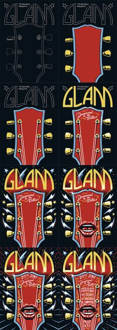 'Glam' Poster by Ian Jepson, via Behance