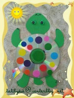 cd art for kids / cd art + cd art projects + cd art diy + cd art for kids + cd art aesthetic + cd artwork cd art + cd art painting + cd art sharpie Cd Crafts, Ocean Crafts, Daycare Crafts, Recycled Crafts, Diy And Crafts, Arts And Crafts, Recycled Glass, Diy For Kids, Crafts For Kids