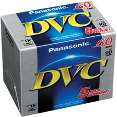 Panasonic Ay-Dvm60ej5p Minidv Tapes (60 Minute, Pack Of 5), 2015 Amazon Top Rated Blank Media #CE