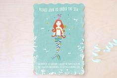 La Mermaid Children's Birthday Party Invitations