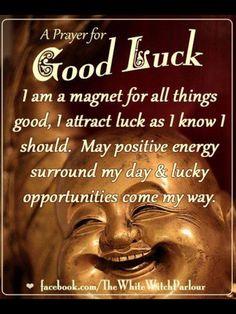 •°• P a g a n Magick •°• ✨ A good luck prayer.