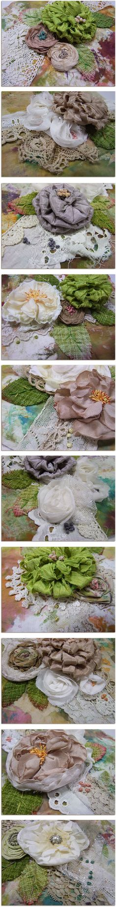Roben-Marie Smith...fabric flowers