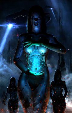 Cyborg Girl by roflrolf
