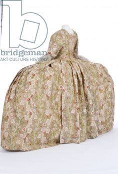 Court dress, 1760's, from the Fashion Museum, Bath and North East Somerset Council via Bridgeman