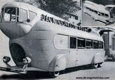 "1935 Traveling band bus from movie ""Stolen Harmony"", show custom concept car prototype streamlined aerodynamic retro futuristic cool deco sleek RV camper camping glamping motorhome"