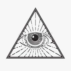 eye of providence: All seeing eye symbol, vector illustration Illustration