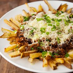 Homemade chili cheese fries taste better and are better for you with these broiled french fries.