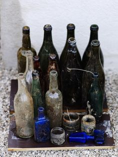 unburied treasures - old glass