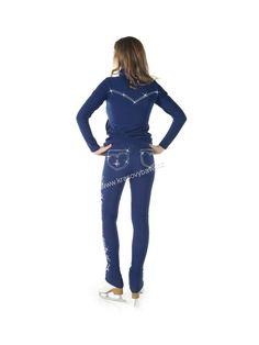 SAGESTER KRASO - ITÁLIE | Kalhoty SAGESTER 408 modrá swarovski aplikace skoky | Krasovýbava