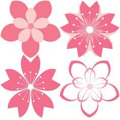 11 Cherry Blossom Vector Patterns Set - http://www.dawnbrushes.com/11-cherry-blossom-vector-patterns-set/