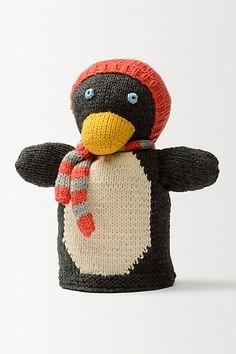 Penguin Hand Puppet - anthropologie.eu