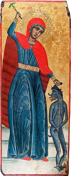 The Icon Gallery-Ohrid is one of worlds' most significant icon galleries. These icons are very important segment of the Byzantine art in general. St Margaret, Byzantine Art, Orthodox Icons, Religious Art, Margarita, Madonna, Christianity, Saints, Religion