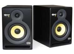 KRK Rockit 5's... use these as my reference monitors for recording and love them.   Great balance of sounds and solidly built!
