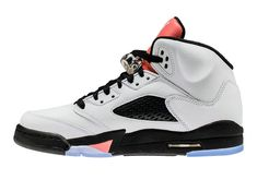 Cool Authentic Cheap Air Jordan 5 Retro GG White Sun Blush Black 440892 115  Basketball Shoe