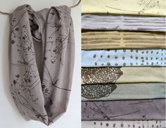 hand screen printed, naturally dyed scarf