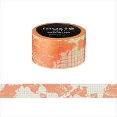 This washi tape is sheer with a pale orange illustration of the globe. You can use this washi tape in your travel notebook or use it to put up pictures from your travel journeys. It is a lovely patter