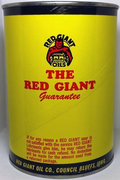 RED GIANT OIL CAN - BACK