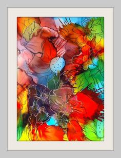 Alcohol Ink on Yupo... 5 x 7 Name: Invisible. SOLD. By Christine Purdy