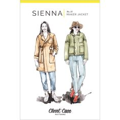 Sienna Maker Jacket Closet Case Sewing Pattern 21 Modern Sewing Patterns, Fabric Patterns, Print Patterns, Clothing Patterns, Tilly And The Buttons, Thing 1, Patterned Jeans, Dress Making Patterns, Sewing Studio