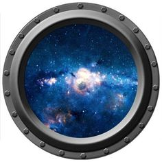 Galaxy Seen Through a Porthole Vinyl Wall Decal by WilsonGraphics, $13.00