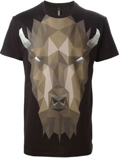 Neil Barrett Geometric Bison T-shirt - O' - Farfetch.com