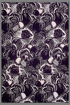 Fruits of Africa Raoul Dufy  (French) Manufacturer: Bianchini-Férier (French, founded Lyons, 1888) Date: ca. 1920 Medium: Printed linen Accession Number: 23.14.2